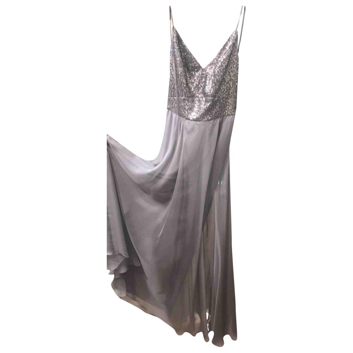Irina Schroter \N Kleid in  Grau Seide