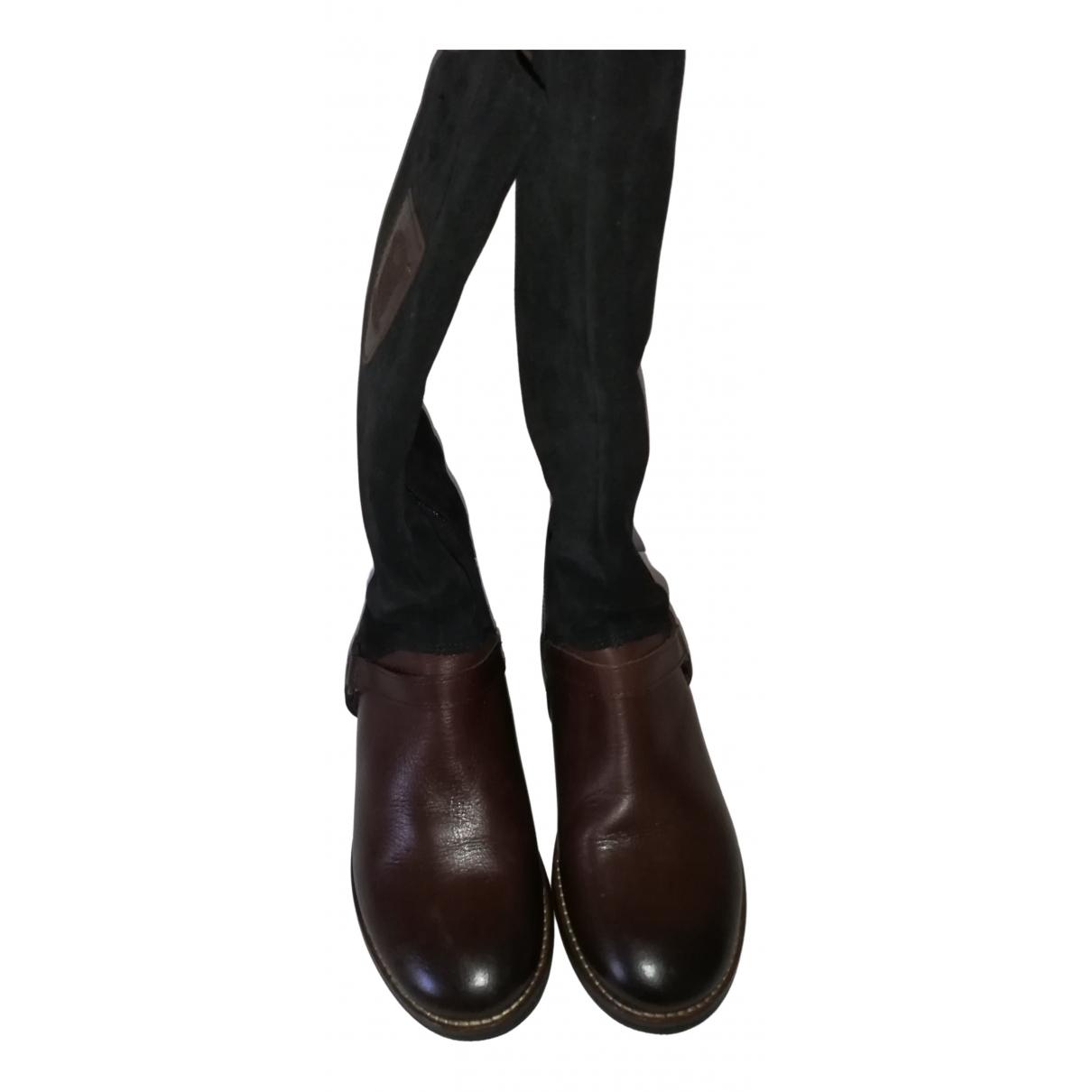 Tommy Hilfiger \N Stiefel in  Braun Leder