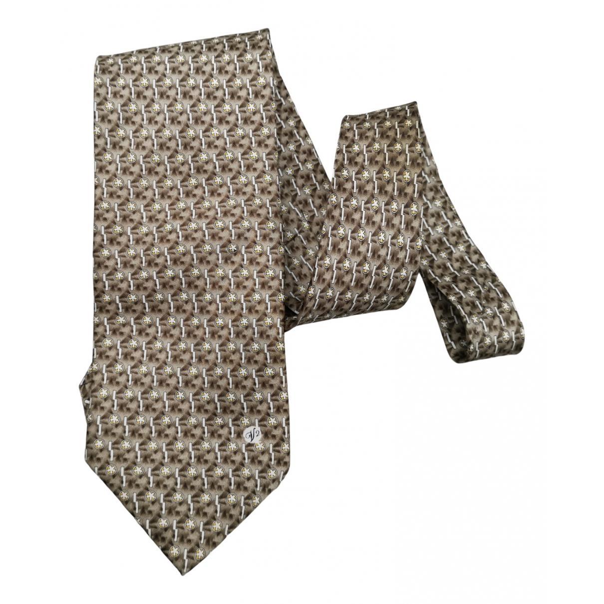 Versace \N Krawatten in  Grau Seide