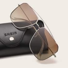 Men Metal Frame Tinted Lens Sunglasses