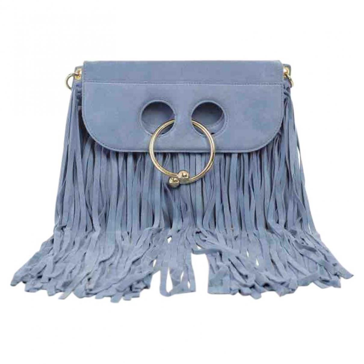 J.w. Anderson Pierce Blue Suede handbag for Women \N