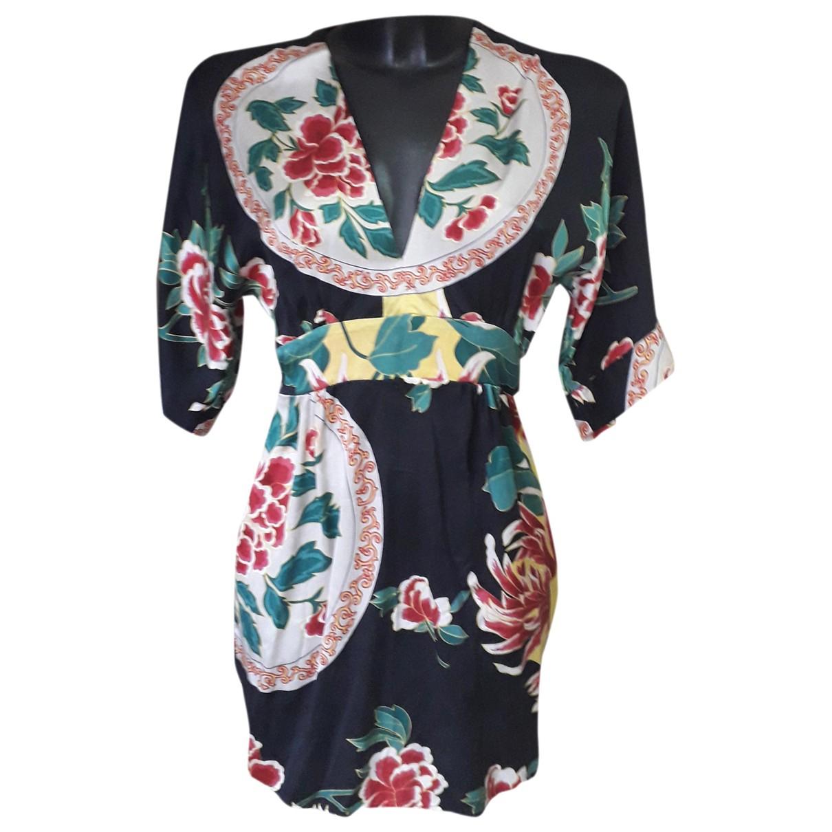 - Robe Hippie Chic pour femme en soie - noir