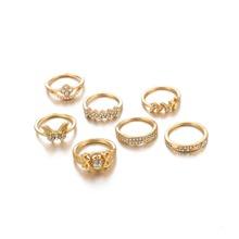 7pcs Butterfly Rhinestone Ring