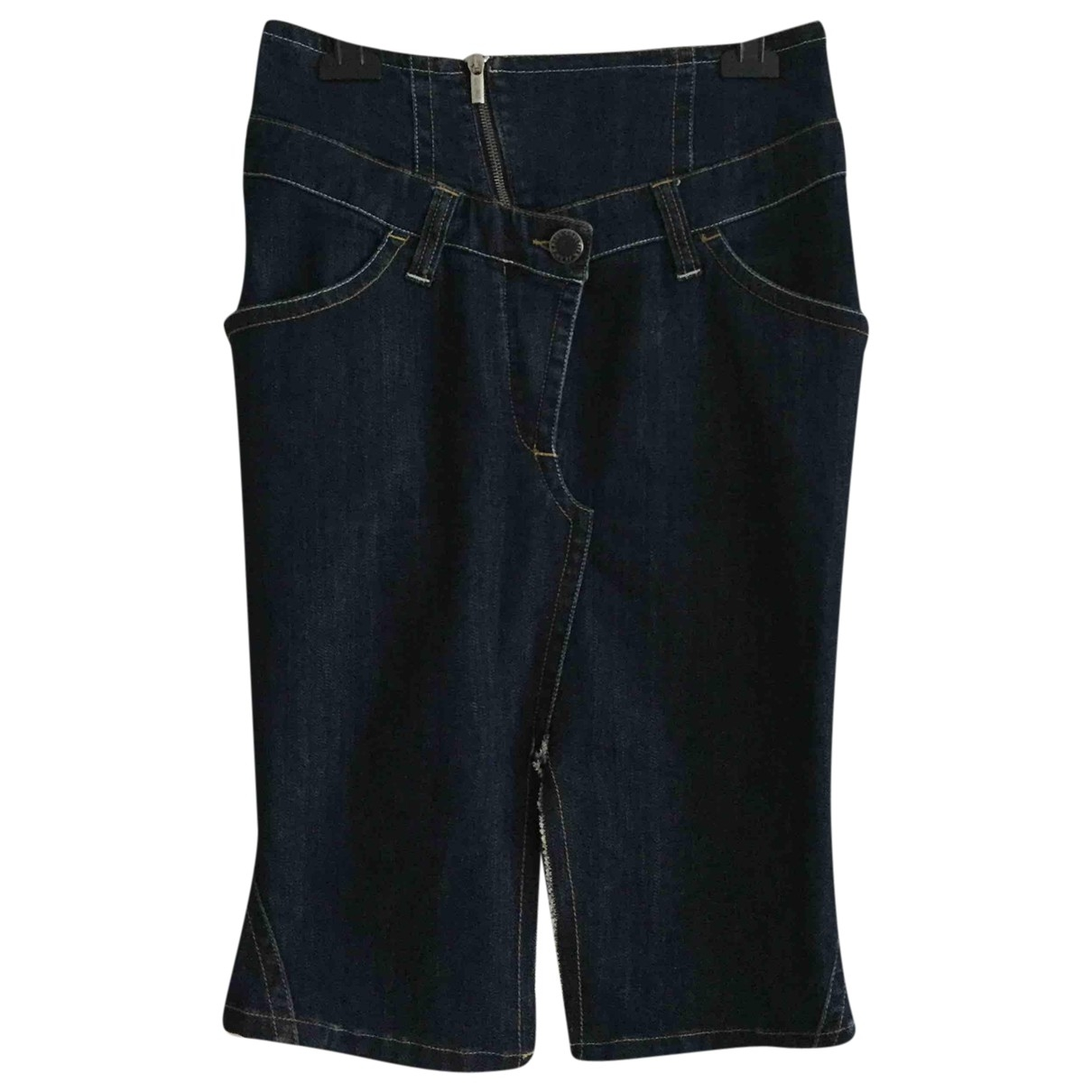 Jean Paul Gaultier \N Blue Cotton skirt for Women 40 FR