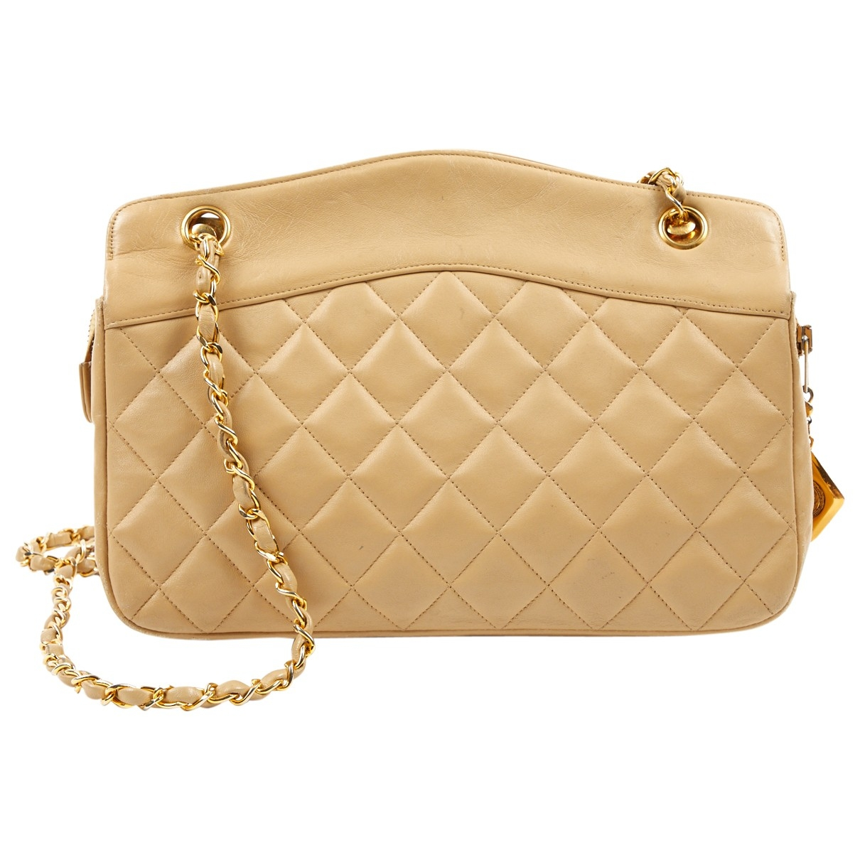Chanel N Beige Leather handbag for Women N