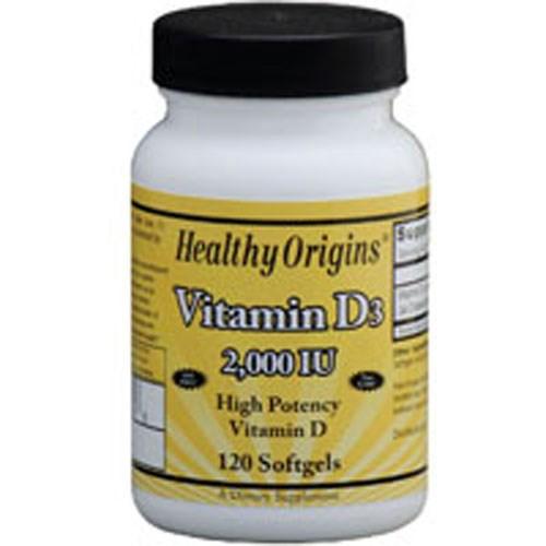 Vitamin D3 120 Soft Gels by Healthy Origins