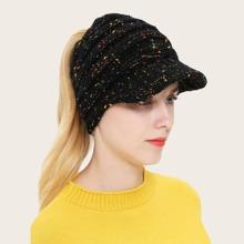 Sombrero tejido de lunares vistosos