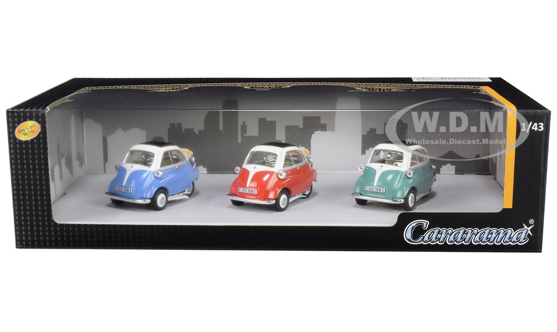 BMW Isetta 3 piece Gift Set 1/43 Diecast Model Cars by Cararama