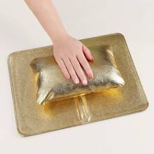 1 Stueck faltbares Nagelkunst Handkissen & 1 Stueck Tischmatte