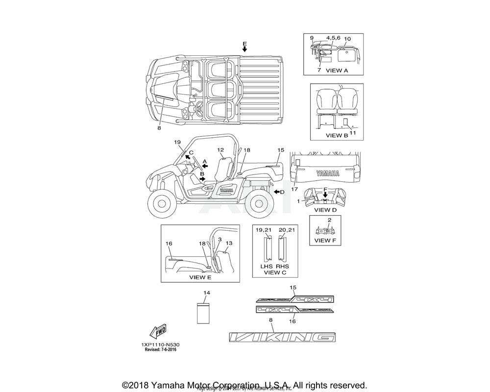 Yamaha OEM 1XD-F163G-10-00 EMBLEM 1
