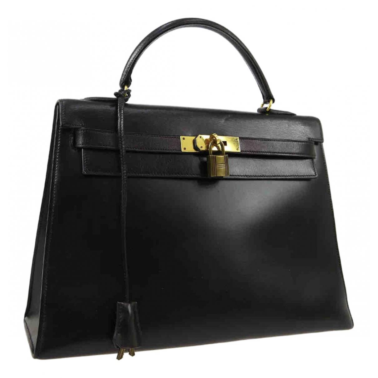 Hermès Kelly 32 Black Leather handbag for Women \N