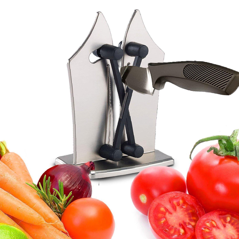 KCASA Knife Sharpen Stone Kitchen Knife Sharpener Polishes Serrated Beveled And Standard Blades Household Sharpener Poli