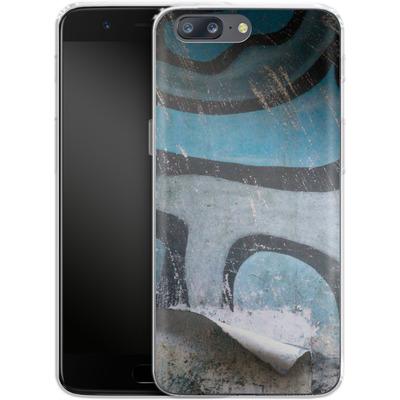 OnePlus 5 Silikon Handyhuelle - Texture Pacificwall von Brent Williams