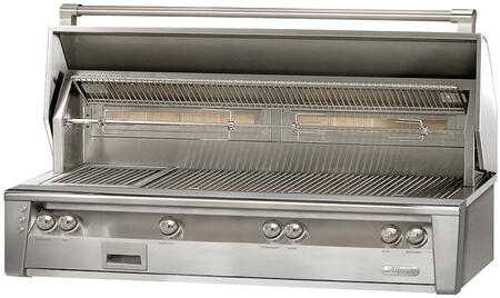 ALXE-56BFG-NG 56 Built-In Natural Gas Grill with 998 sq. inches Grilling Surface  4 Main Burners  Sear Zone  2 Rotisserie Burners  and Smoker  in