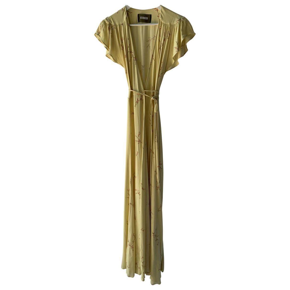 Reformation \N Yellow dress for Women XS International