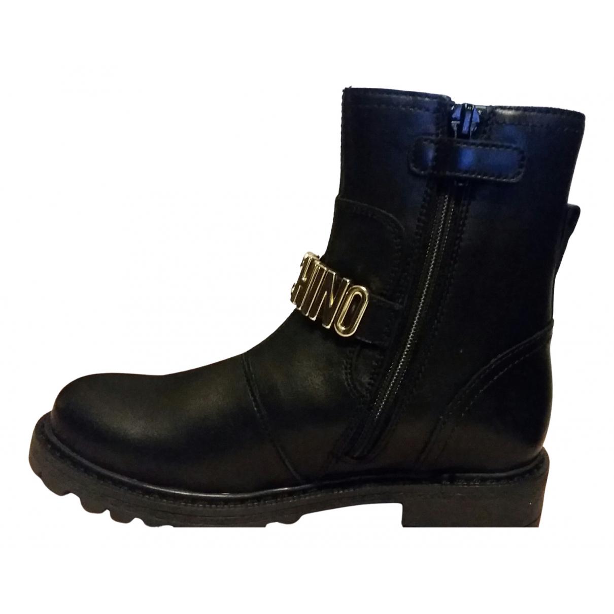 Moschino Love \N Stiefel.Stiefeletten in  Schwarz Leder