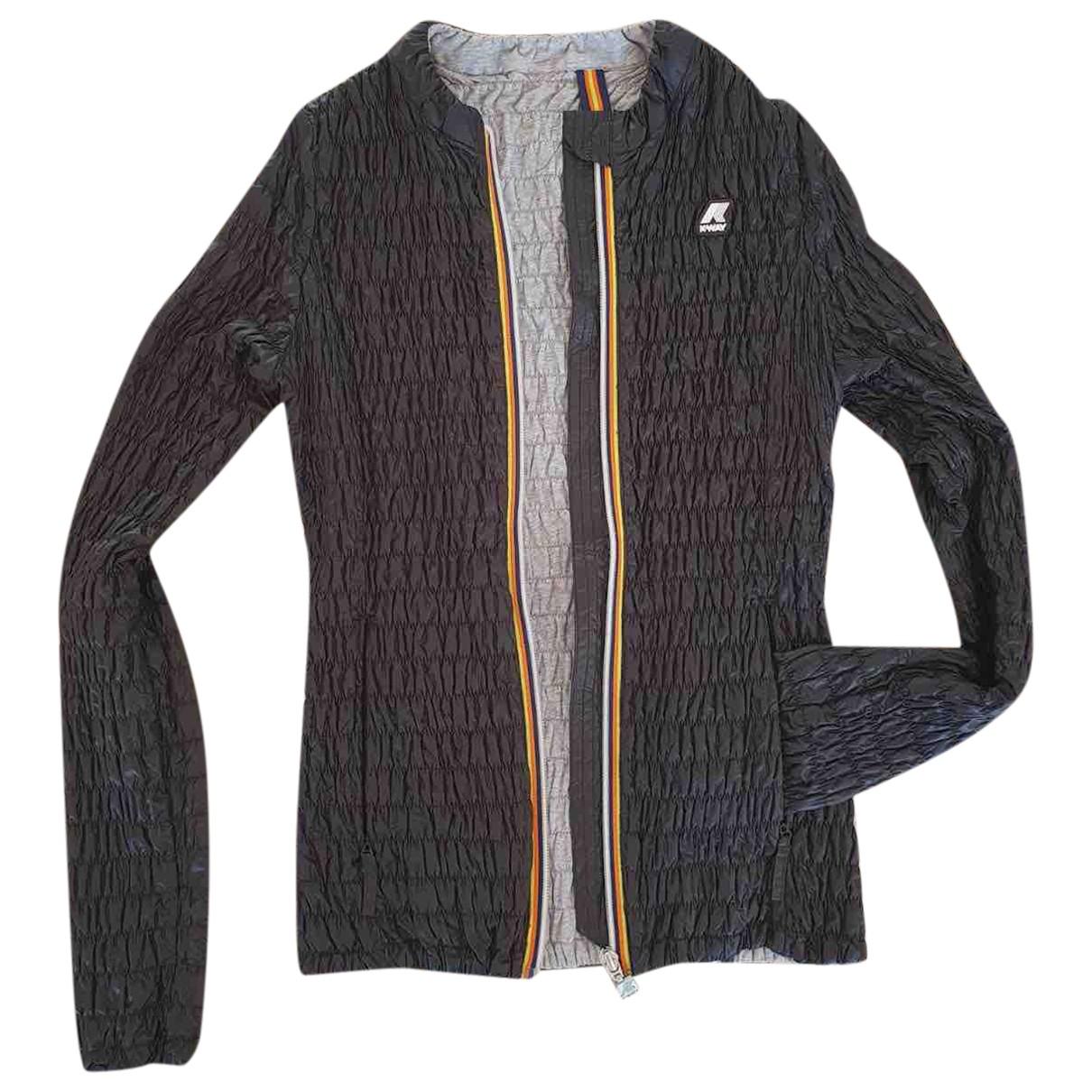 K-way N Black Cotton jacket for Women 8 UK