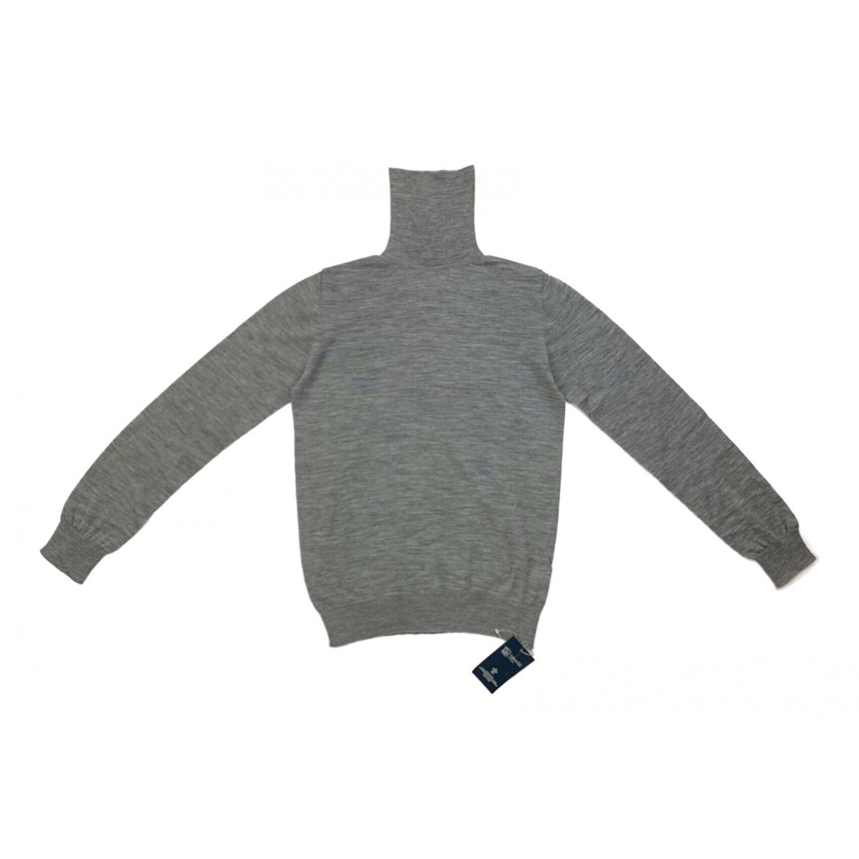 Johnstons Of Elgin - Pull   pour femme en laine - gris