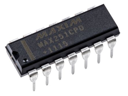 Maxim Integrated MAX251CPD+, Line Transceiver, RS-232 2-TX 2-RX, 5 V, 14-Pin PDIP