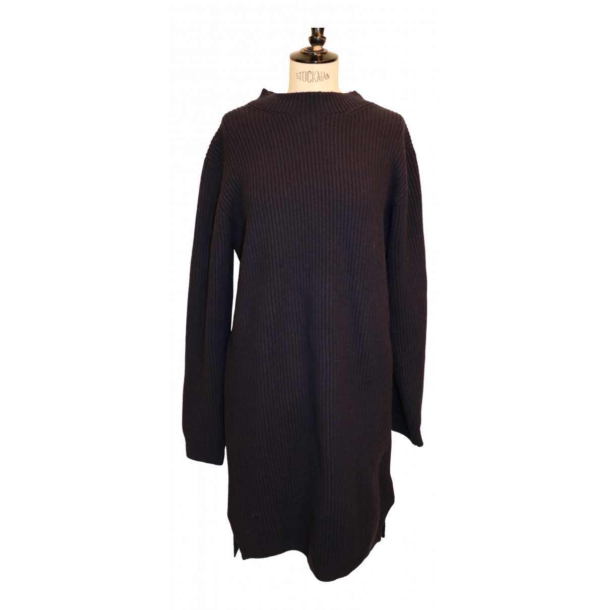 Acne Studios \N Kleid in  Marine Wolle