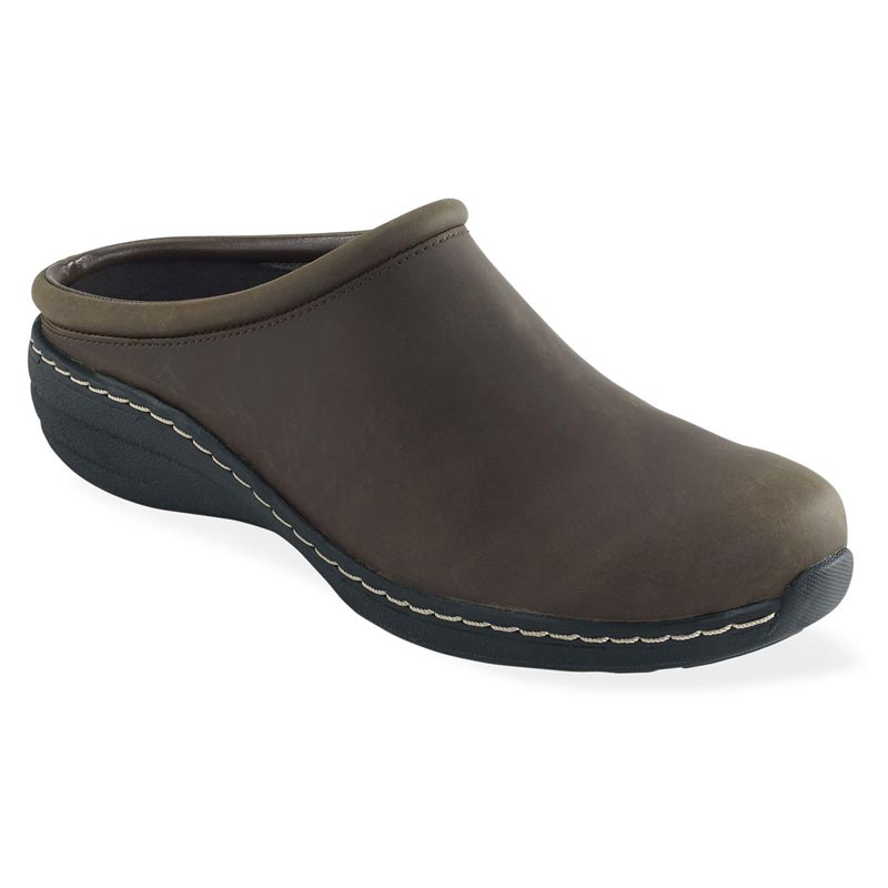 Aetrex Robin Brown Oiled Leather Slip-Resistant 36