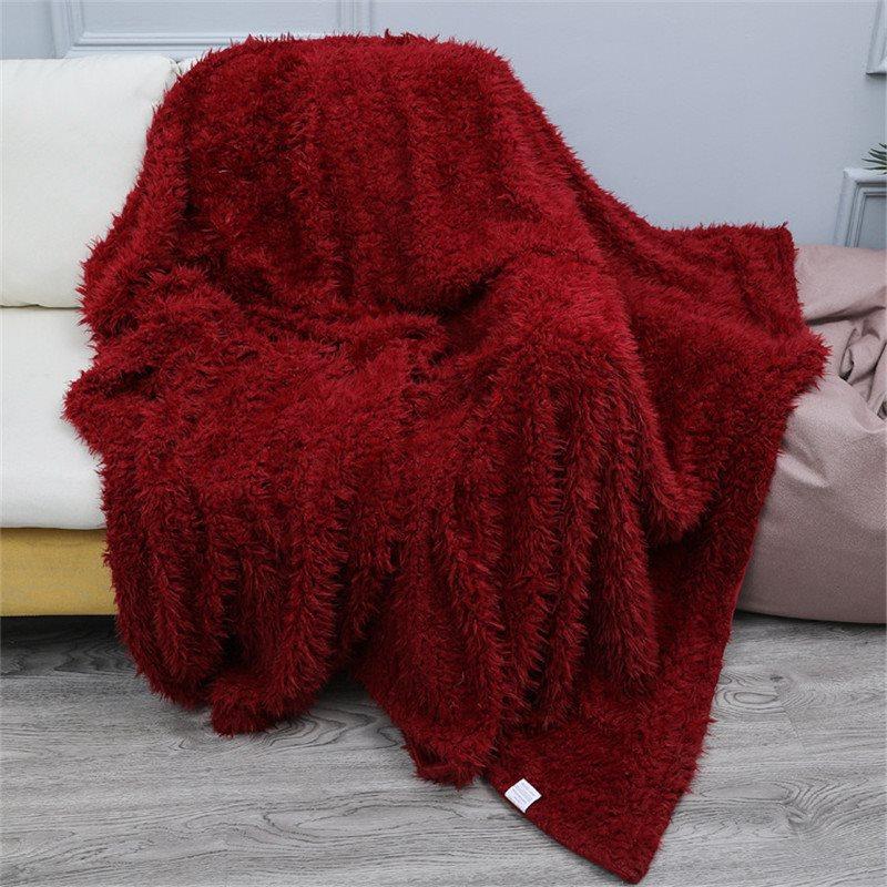 Super Soft Flannel Blanket Solid Warm Blanket