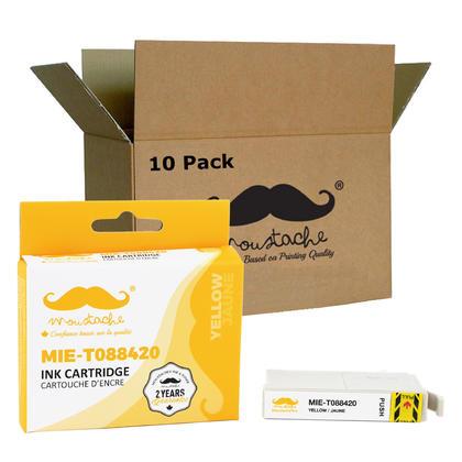 Compatible Epson 88 T088420 cartouche d'encre jaune - Moustache@ - 10/paquet
