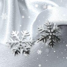 1 Paar Maenner Manschettenknopfe mit Schneeflocken Design