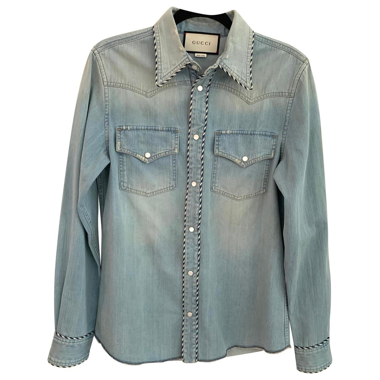 Gucci - Chemises   pour homme en denim - bleu