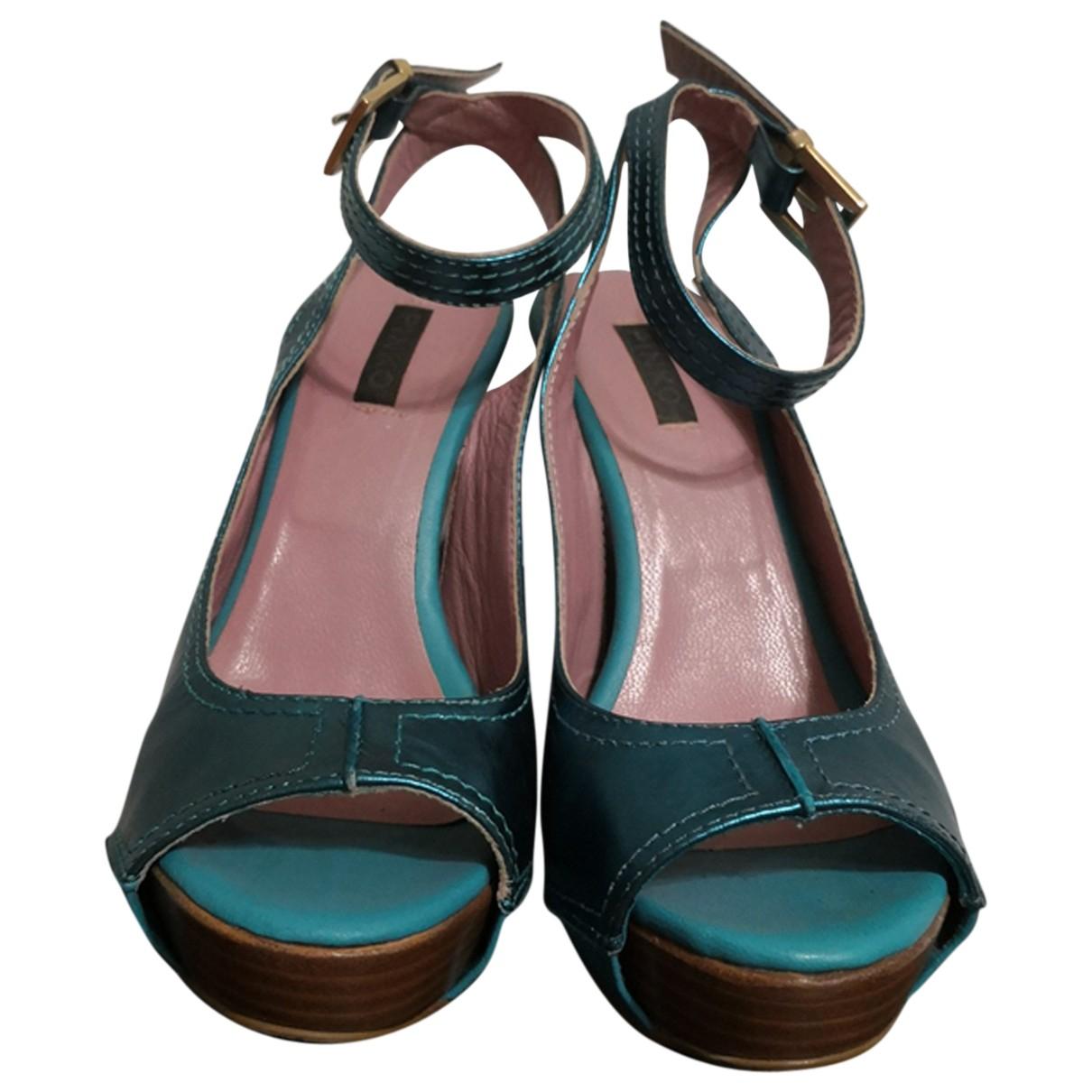 Pinko \N Sandalen in  Gruen Leder