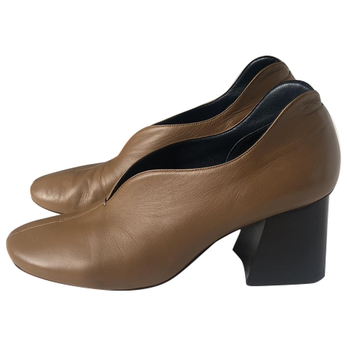 Celine - Escarpins Soft Ballerina pour femme en cuir - camel