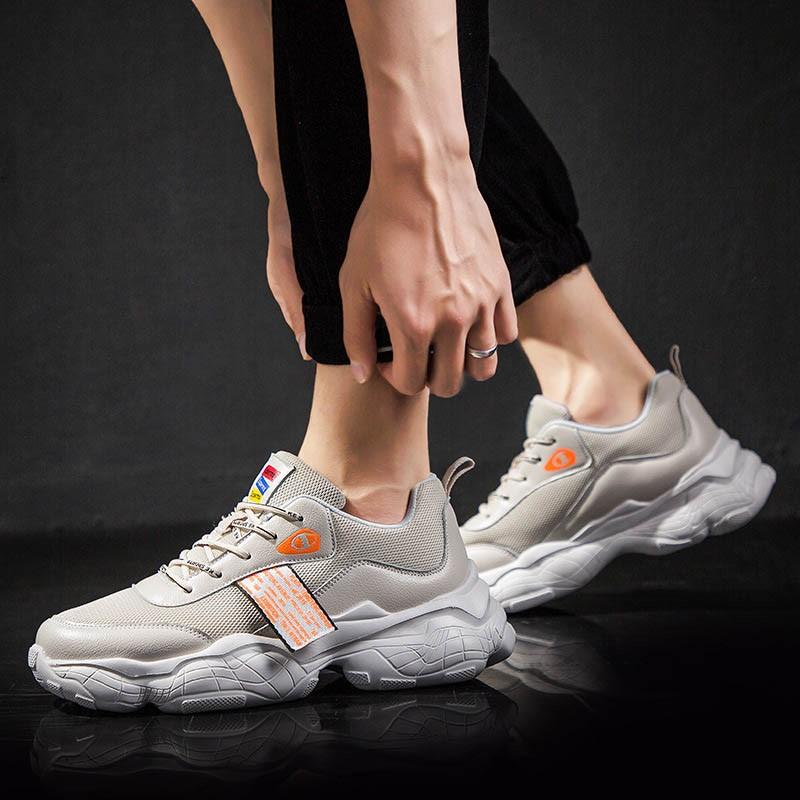 Ericdress Round Toe Lace-Up Platform Men's Sneakers