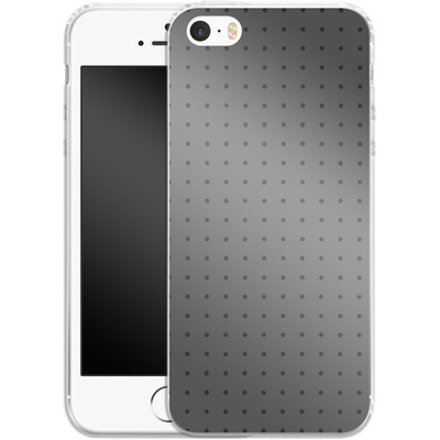 Apple iPhone 5 Silikon Handyhuelle - Dot Grid Grey von caseable Designs