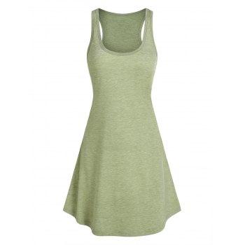 Curved Hem Heathered Tank Dress