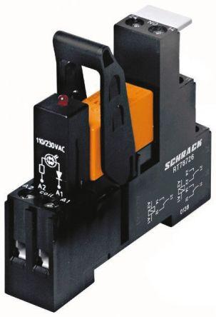 TE Connectivity RT Series , 24V dc SPDT Interface Relay Module, Screw Terminal , DIN Rail