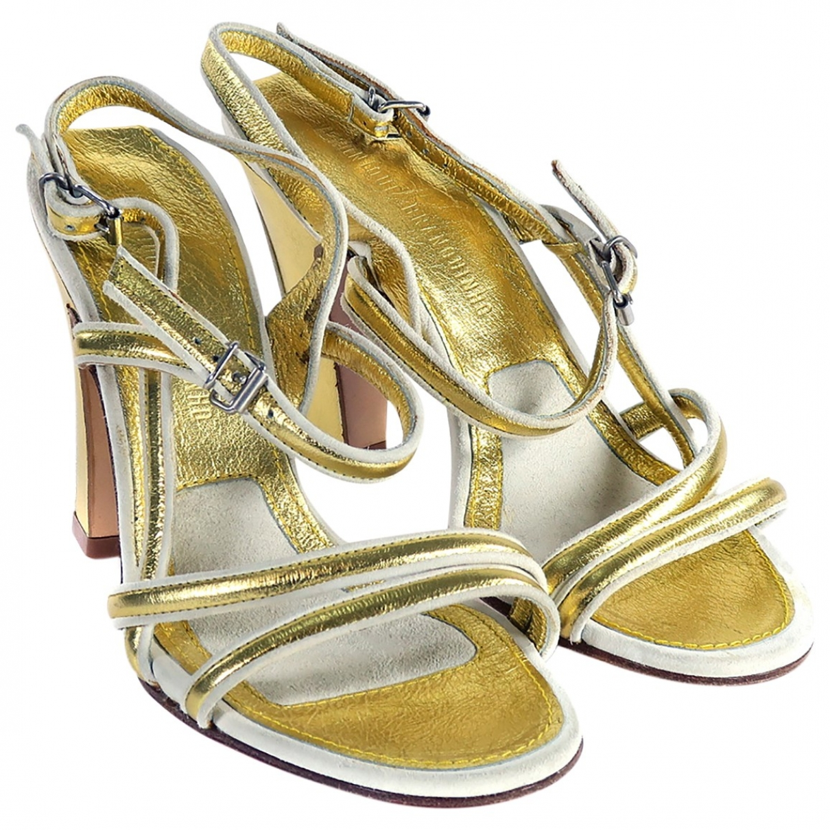 Véronique Branquinho \N Gold Leather Sandals for Women 35.5 EU