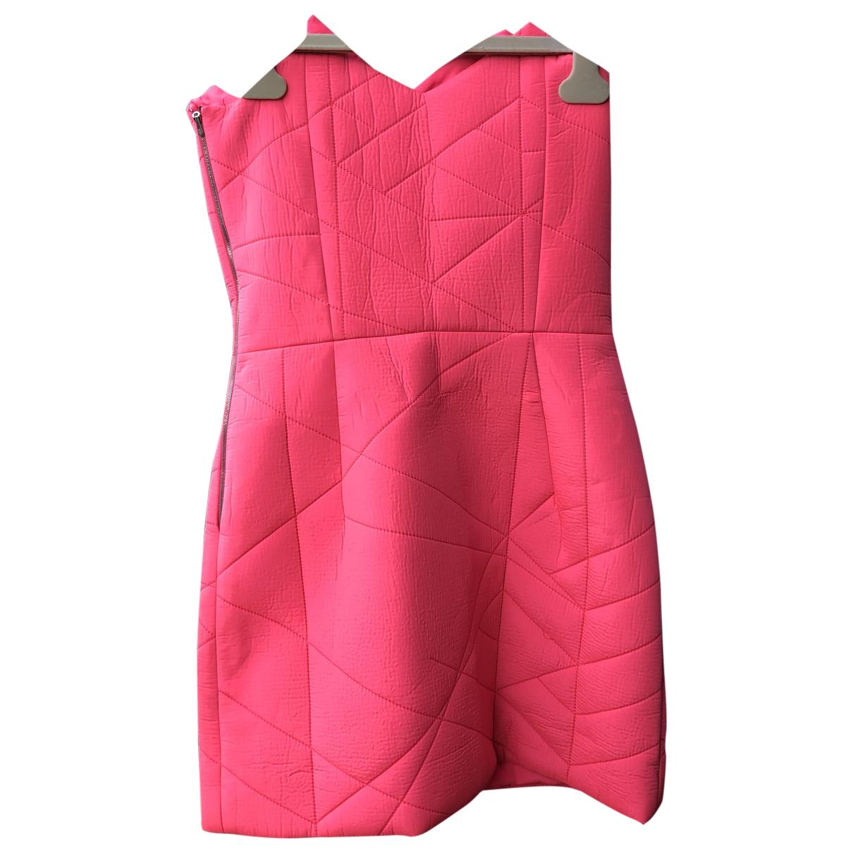 Preen By Thornton Bregazzi \N Kleid in  Rosa Viskose