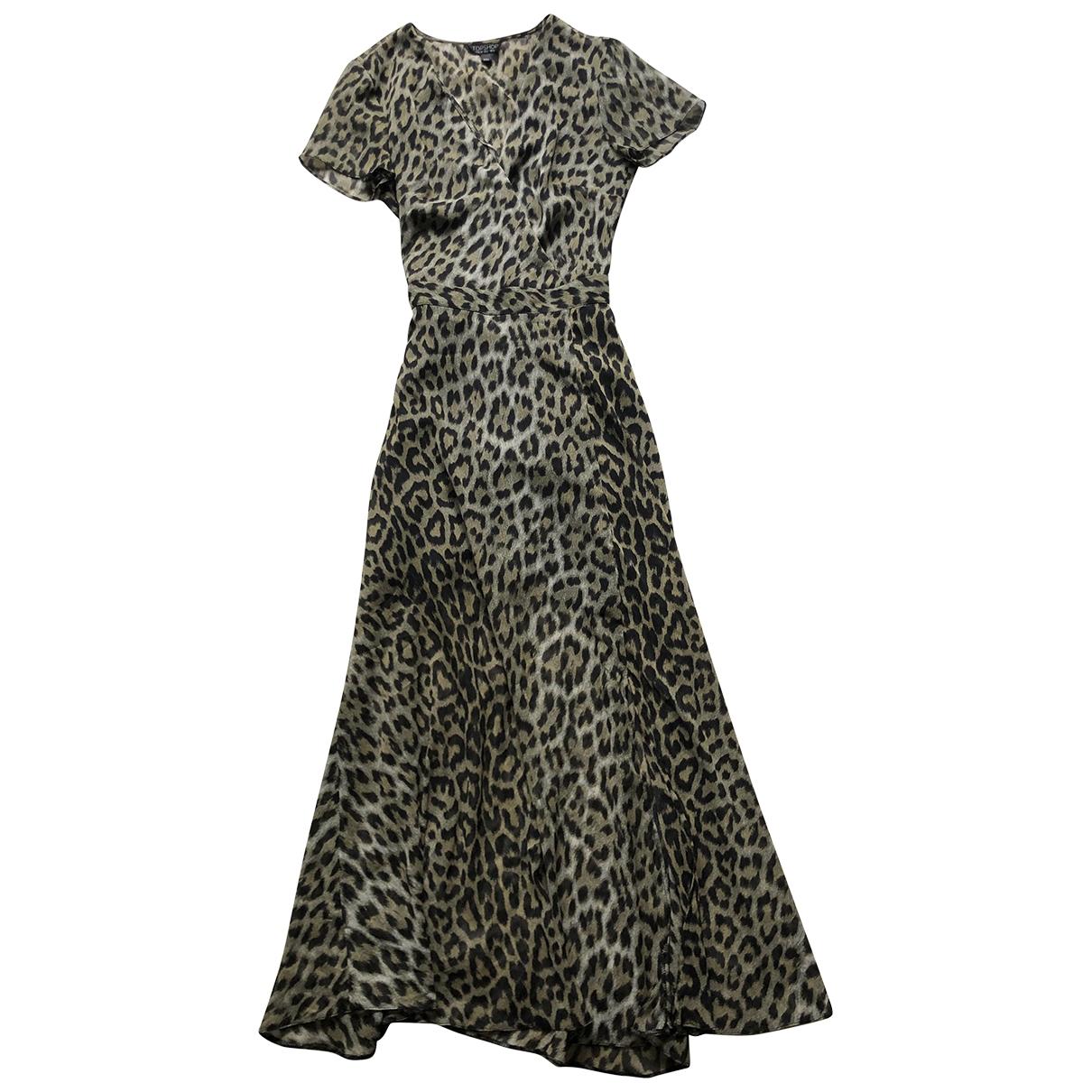 Tophop \N Kleid in  Khaki Polyester