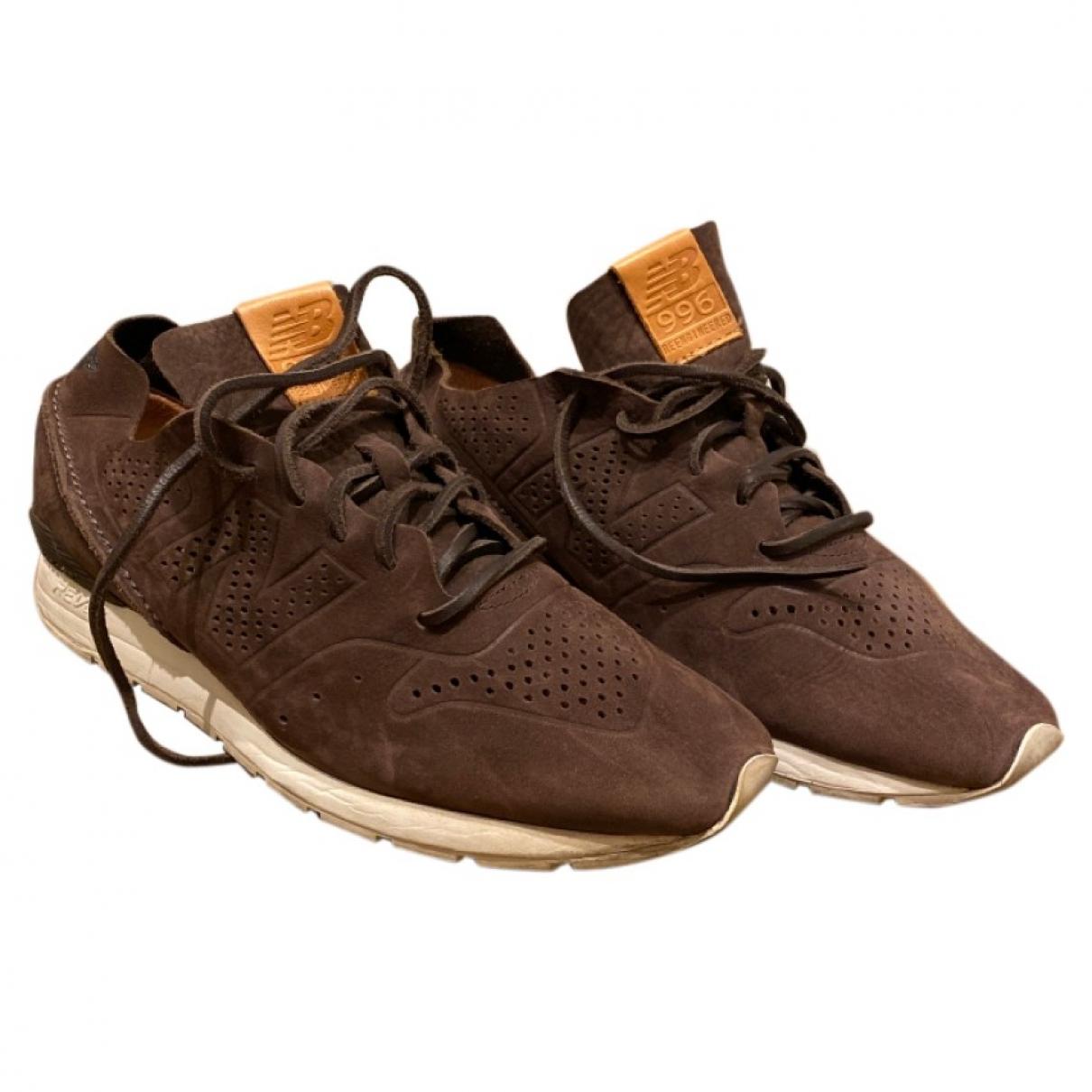New Balance - Baskets   pour homme en cuir - marron