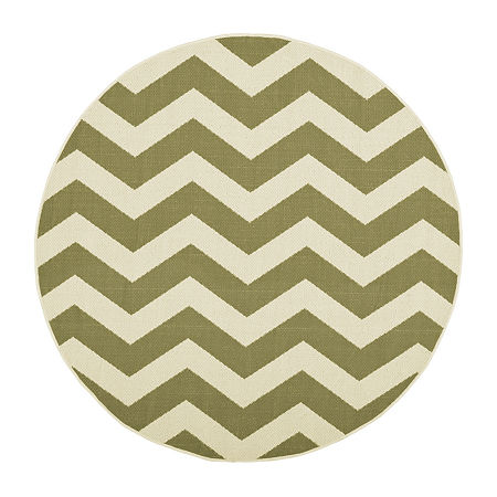 Safavieh Courtyard Collection Kalisha Geometric Indoor/Outdoor Round Area Rug, One Size , Multiple Colors