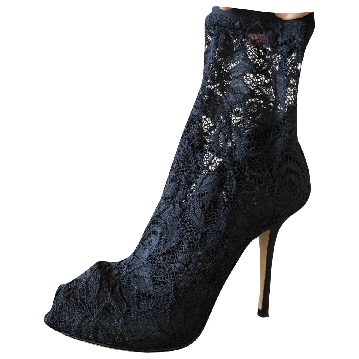 Botas open toe de Lona Dolce & Gabbana