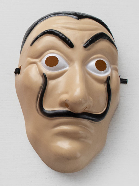Milanoo Money Heist Cosplay Dali Mask PVC Cosplay Accessory