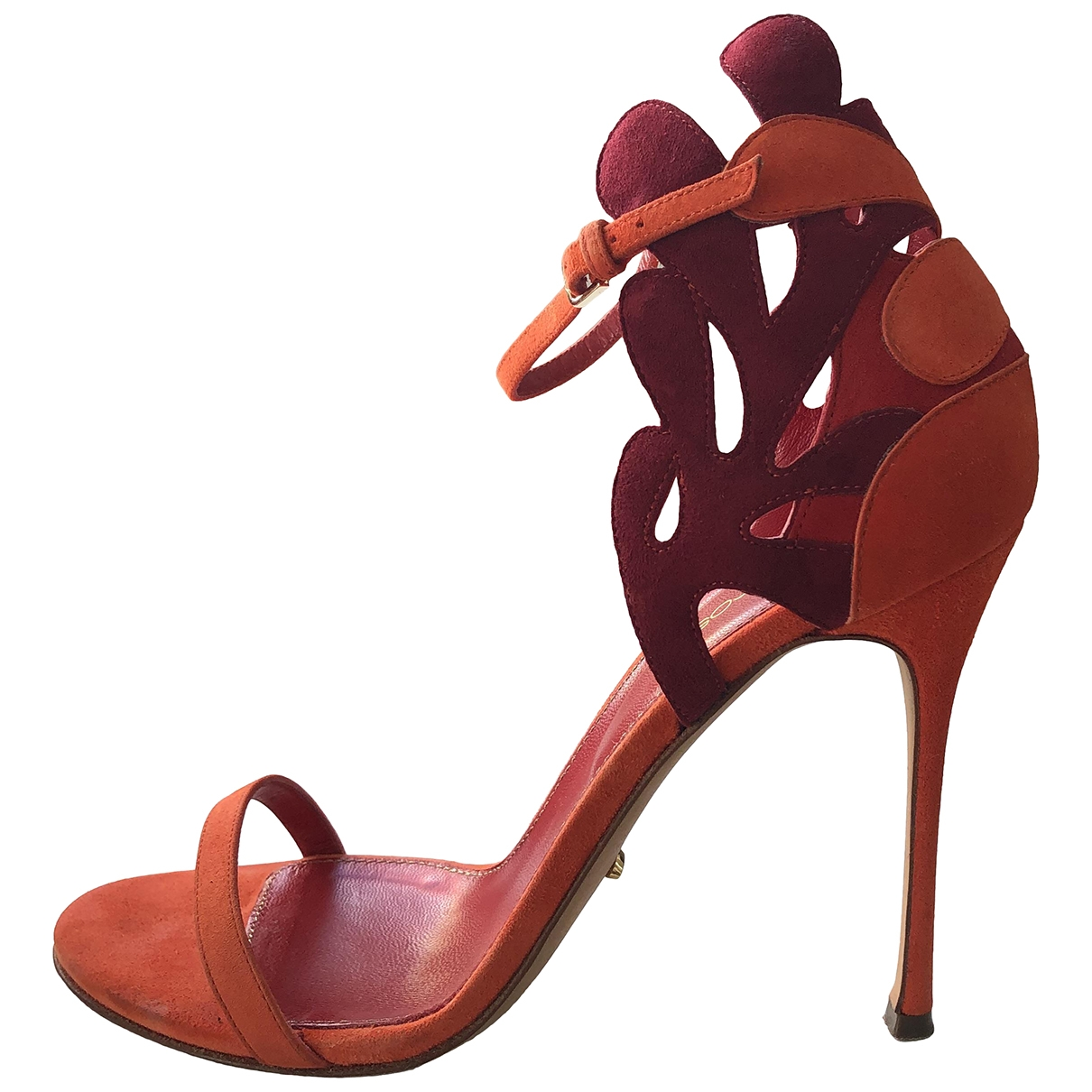 Sergio Rossi \N Orange Leather Sandals for Women 38 IT