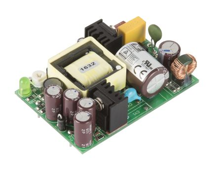 XP Power , 15W AC-DC Converter, 5V dc, Open Frame, Medical Approved