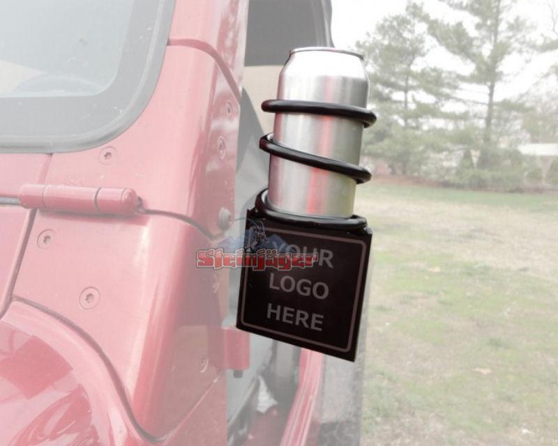 Steinjager J0030797 Door Mounted Can Holder Jeep Wrangler JK 07-15