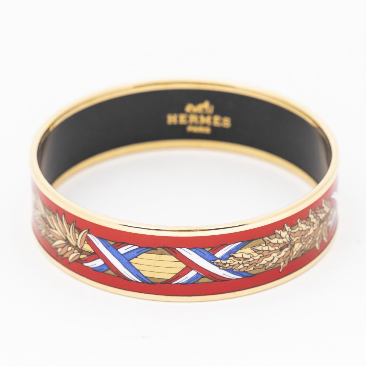 Hermes - Bracelet   pour femme en metal - rouge