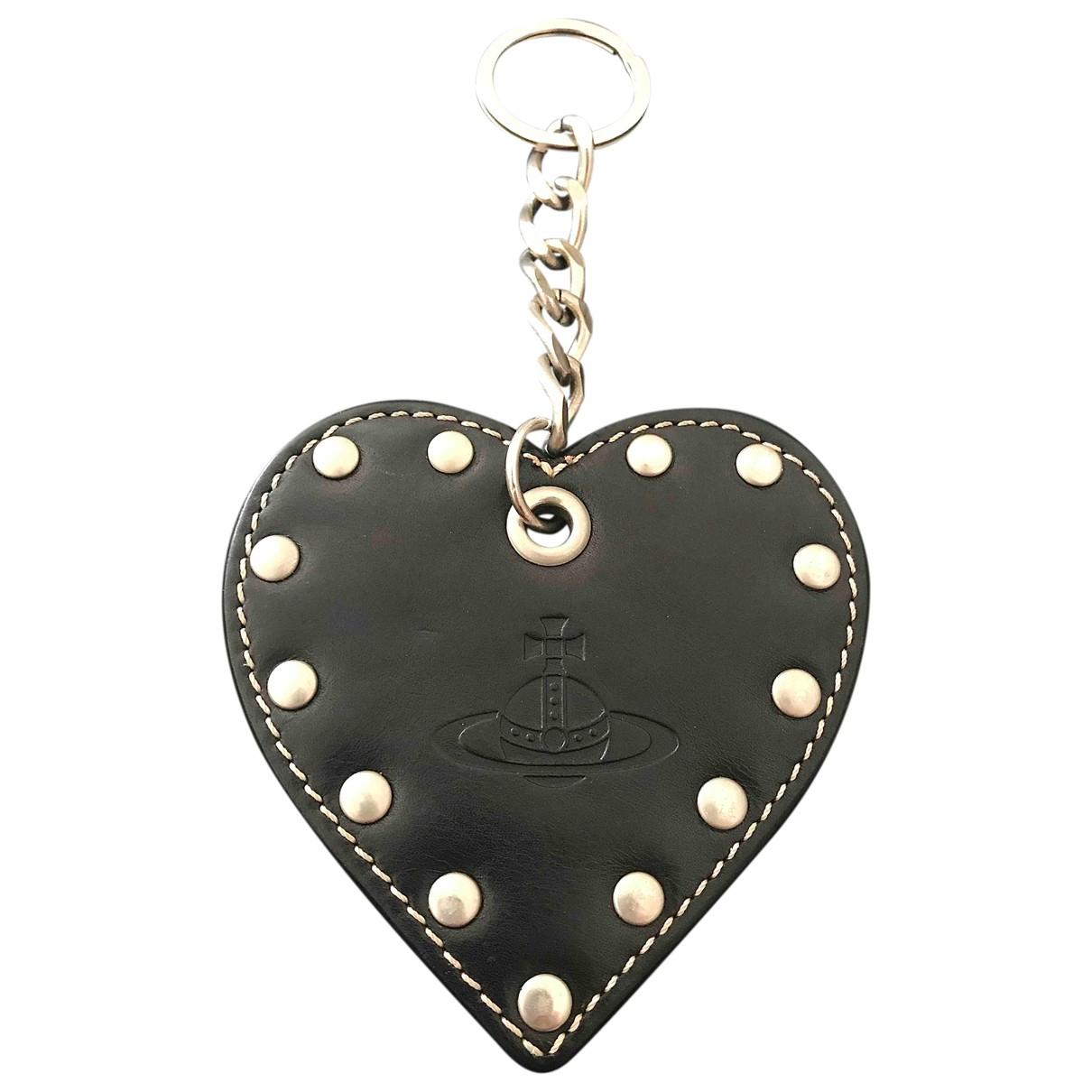 Vivienne Westwood \N Kleinlederwaren in  Schwarz Leder