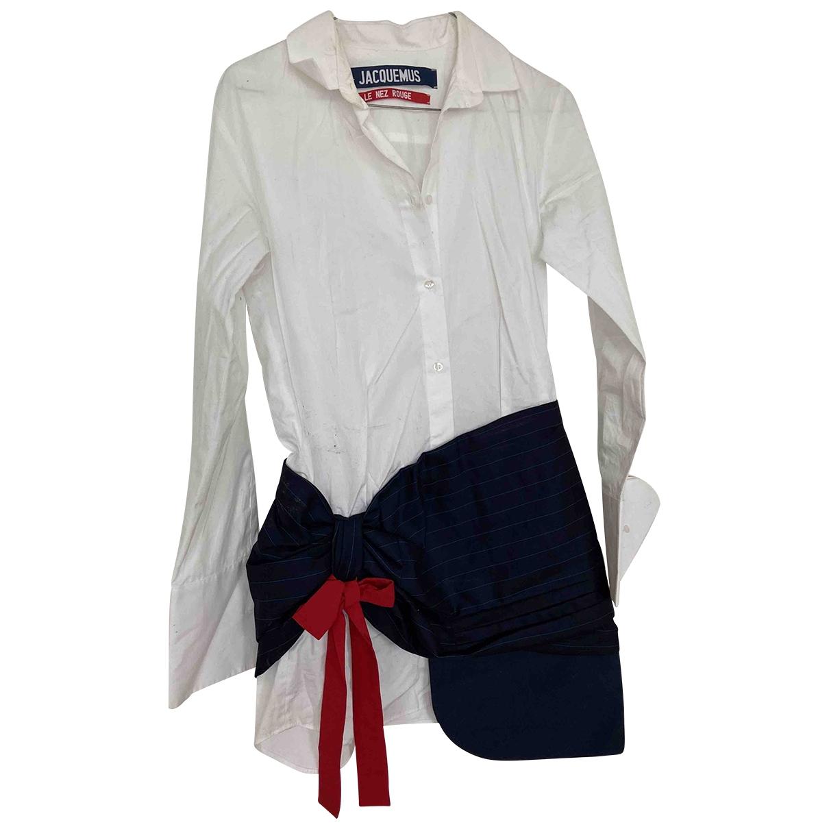 Jacquemus Le Nez Rouge Blue Cotton dress for Women 38 FR