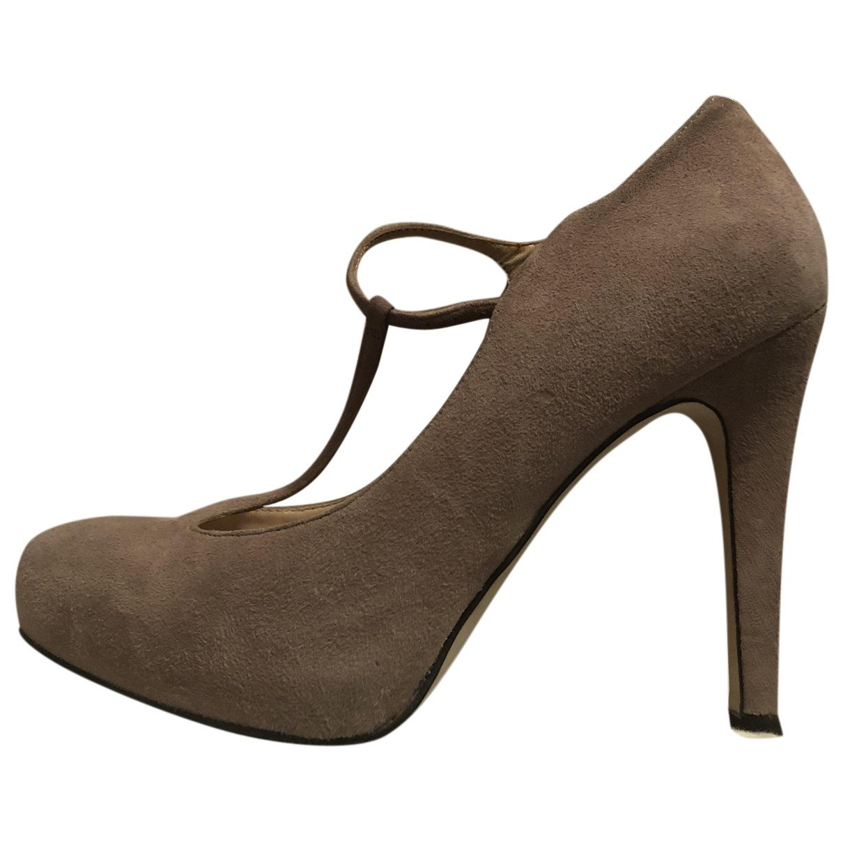 Guess N Beige Suede Heels for Women 40 IT