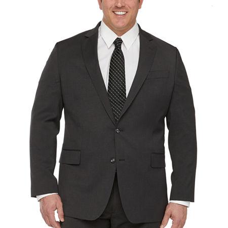 Stafford Super Suit Mens Classic Fit Suit Jacket-Big and Tall, 60 Big Regular, Black